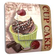 Interrupteur déco Cup Cake Chocolat /1 simple - DKO Interrupteur