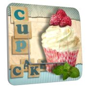 Interrupteur déco Cup Cake Chocolat /2 simple - DKO Interrupteur