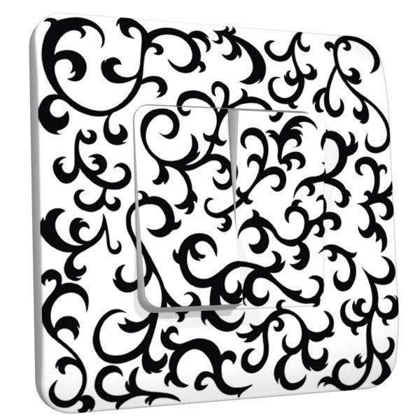 interrupteur d co dentelle arabesque double d coration. Black Bedroom Furniture Sets. Home Design Ideas