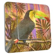 Interrupteur déco Exotique / Toucan simple - DKO Interrupteur