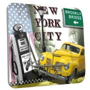 Interrupteur déco NY Yellow cab simple - DKO Interrupteur