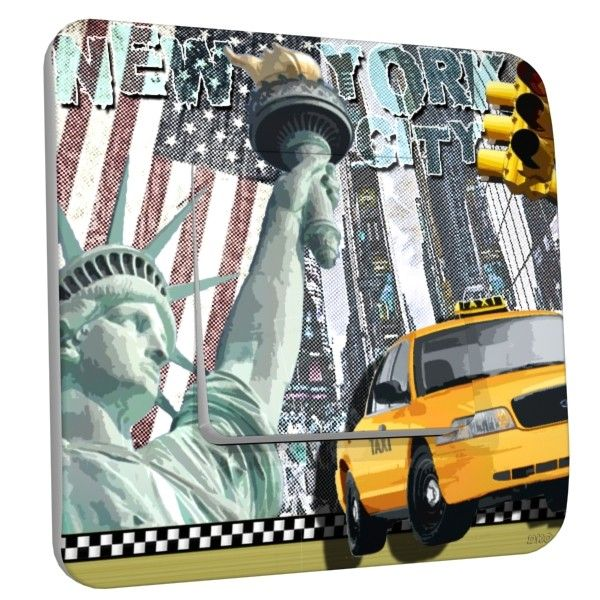 Interrupteur d co new york taxi simple dko interrupteur for Deco taxi new york