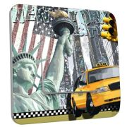 Interrupteur déco New York taxi simple - DKO Interrupteur