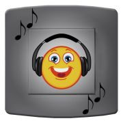 Interrupteur déco Smiley / Musique simple - DKO Interrupteur