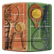 Interrupteur déco Sports / Tennis poussoir - DKO Interrupteur