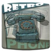 Interrupteur déco Vintage / Vintage Phone simple - DKO Interrupteur