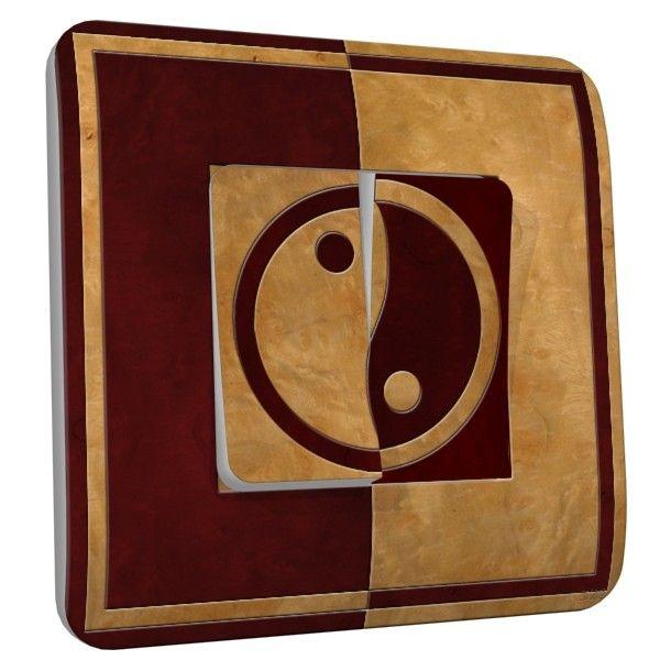 Interrupteur d co yin yang bois double dko interrupteur for Deco yin yang