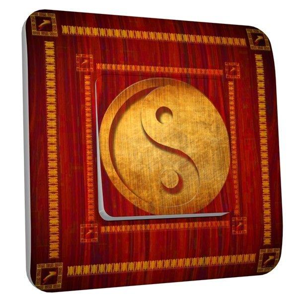 Interrupteur d co yin yang rouge simple dko interrupteur for Deco yin yang