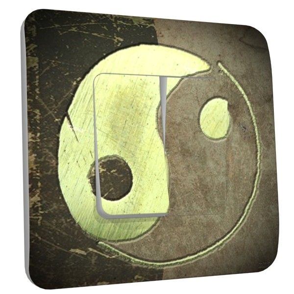 Interrupteur d co yin yang vintage double dko interrupteur for Deco yin yang