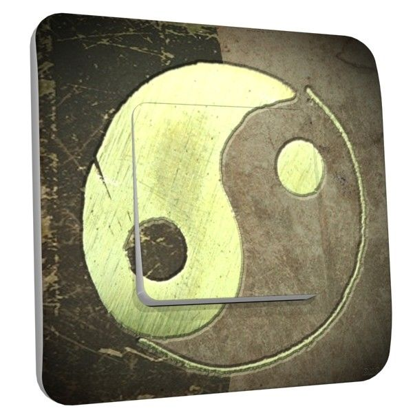 Interrupteur d co yin yang vintage simple dko interrupteur for Deco yin yang