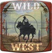 Prise déco Country / Cow-Boy wild west 2 pôles + terre - DKO Interrupteur