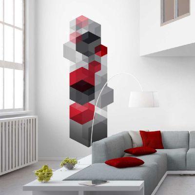 papier peint largeur unique d cor cubo 02 lgd01. Black Bedroom Furniture Sets. Home Design Ideas