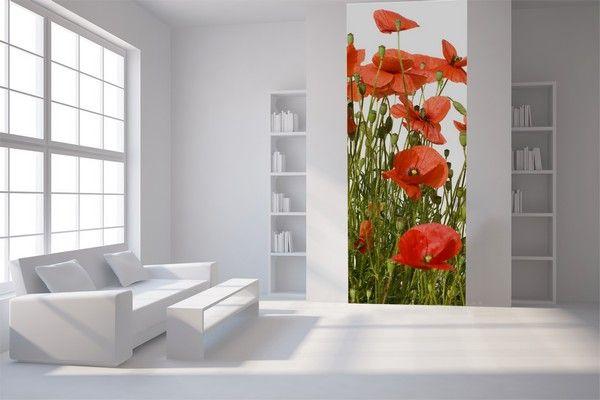 papier peint coquelicot papier peint coquelicot sur enperdresonlapin. Black Bedroom Furniture Sets. Home Design Ideas