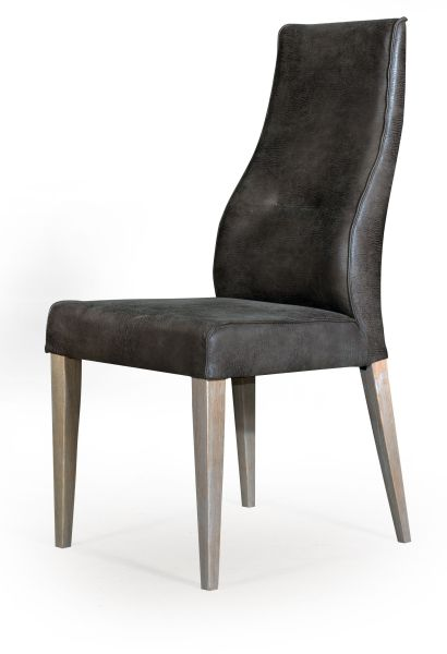 chaise cuir catalogne gris mobilier. Black Bedroom Furniture Sets. Home Design Ideas