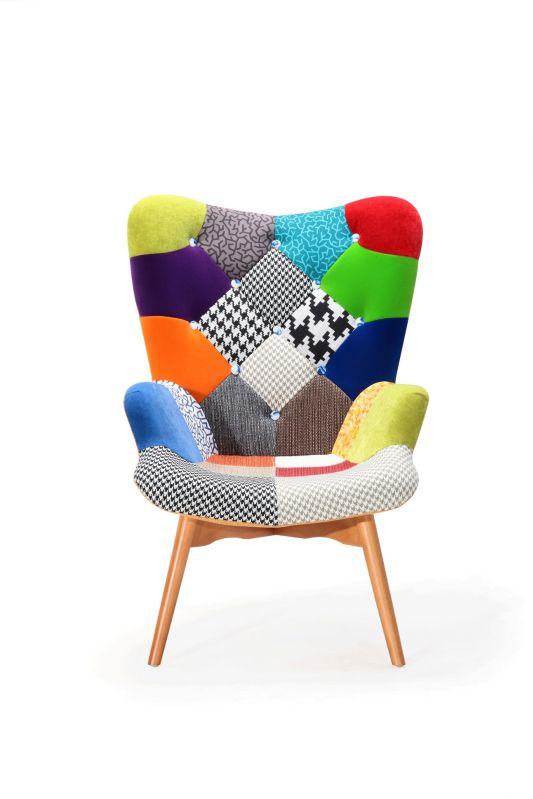 Fauteuil nordique design patchwork for Mobilier design fauteuil