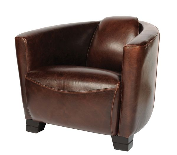 fauteuil cuir cigare chocolat mobilier. Black Bedroom Furniture Sets. Home Design Ideas