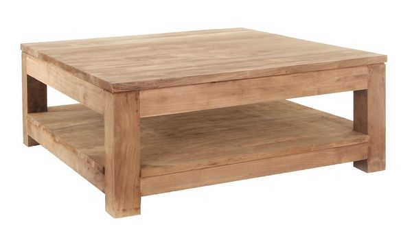 Table basse authentic double plateau - Table basse double plateau bois ...