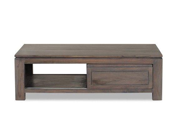 Table basse acacia massif mara cendr portes for Table basse acacia massif