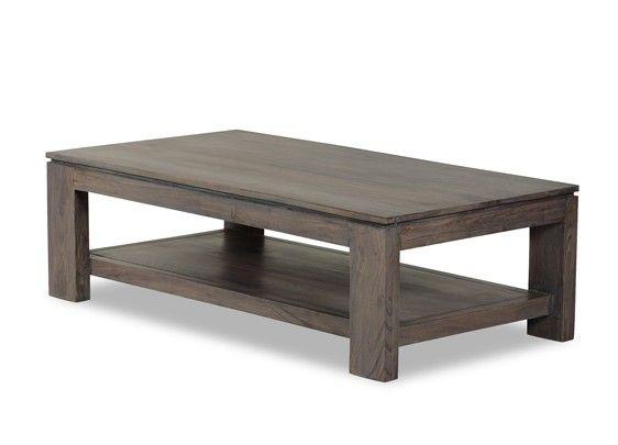 Table basse acacia massif mara cendr for Table basse acacia