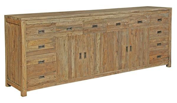 buffet teck cancun 240 cm mobilier. Black Bedroom Furniture Sets. Home Design Ideas