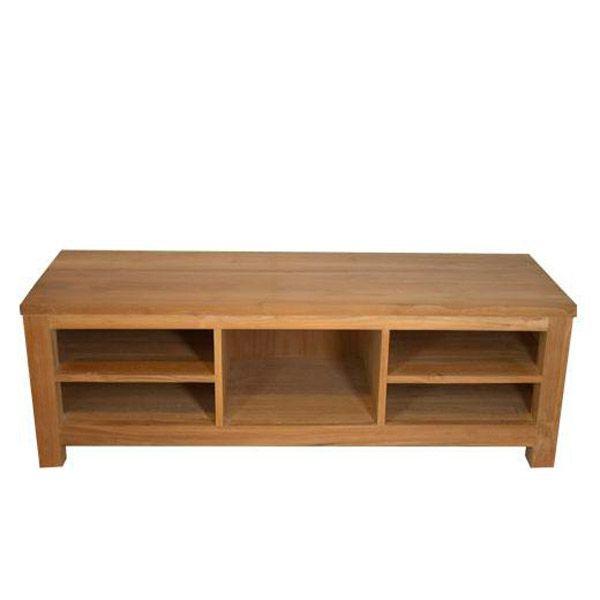 meuble tv teck evasion. Black Bedroom Furniture Sets. Home Design Ideas