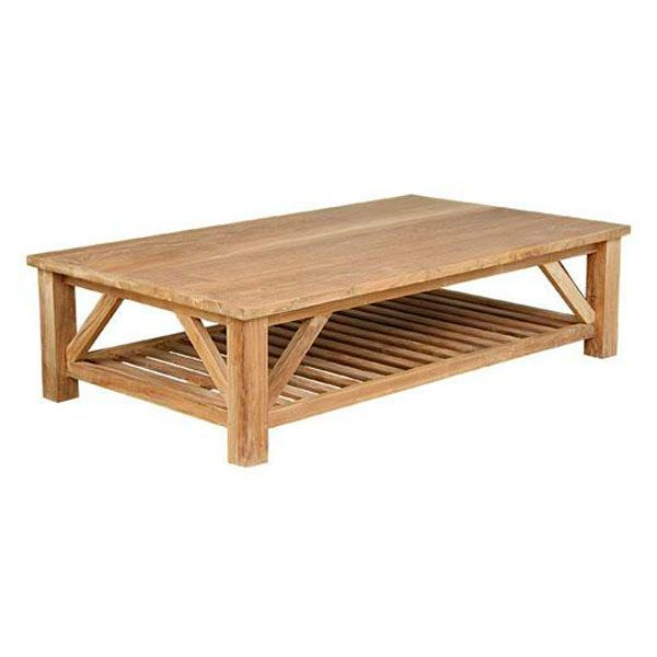 Table basse teck burlington for Table basse bois teck