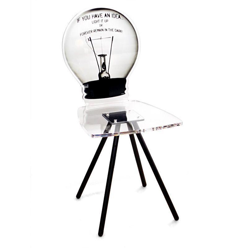 Chaise Acrylique Ampoule Transparente