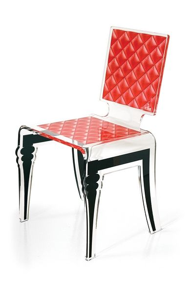 chaise acrylique diam rouge acrila. Black Bedroom Furniture Sets. Home Design Ideas