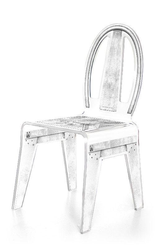 chaise acrylique factory gris mobilier. Black Bedroom Furniture Sets. Home Design Ideas