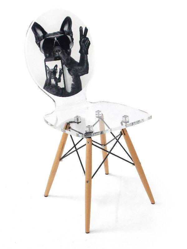 chaise acrylique graph pieds bois dog phone acrila. Black Bedroom Furniture Sets. Home Design Ideas