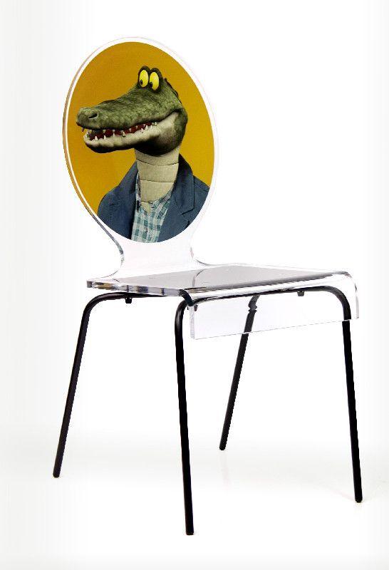 chaise acrylique graph pieds m tal crocodile acrila. Black Bedroom Furniture Sets. Home Design Ideas