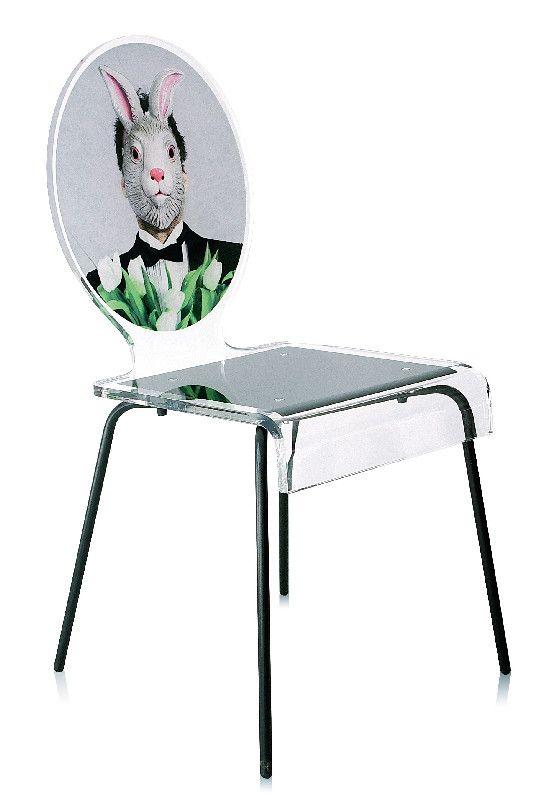 chaise acrylique graph pieds m tal lapin acrila. Black Bedroom Furniture Sets. Home Design Ideas