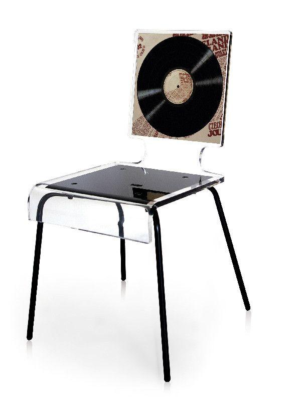 chaise acrylique graph pieds m tal vinyl acrila. Black Bedroom Furniture Sets. Home Design Ideas