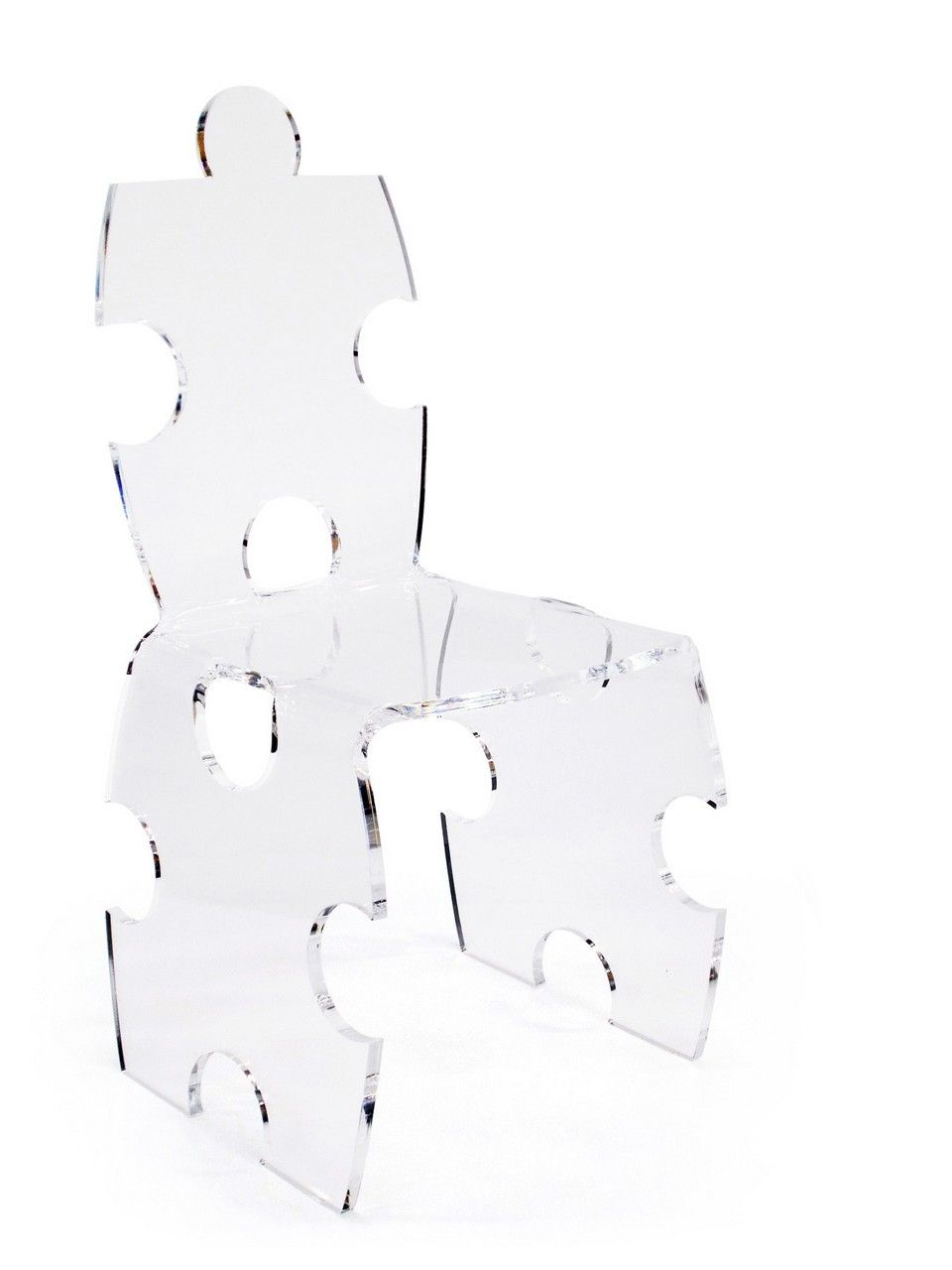Chaise Acrylique Acrylique Chaise Puzzle Puzzle Transparent On0wPX8k