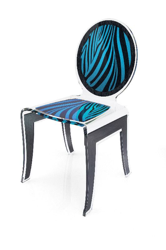 chaise acrylique wild z bre bleu acrila. Black Bedroom Furniture Sets. Home Design Ideas