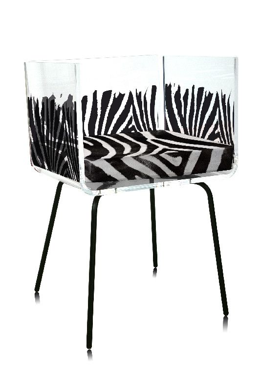 Fauteuil acrylique cali z bre coussin z bre acrila - Fauteuil zebre ...