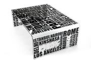 Table basse acrylique City noire - Acrila