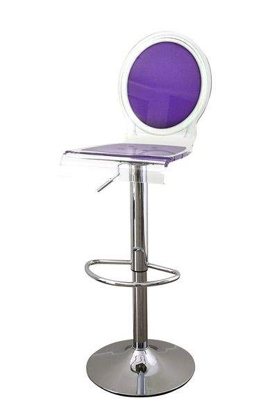 tabouret de bar r glable sixteen violet acrila. Black Bedroom Furniture Sets. Home Design Ideas