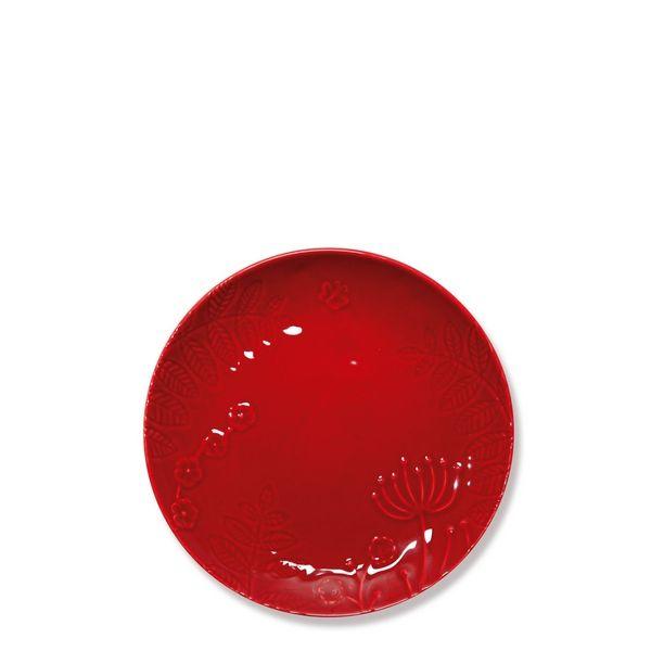 Assiette a dessert rouge for Tapis de cuisine hemisphere sud