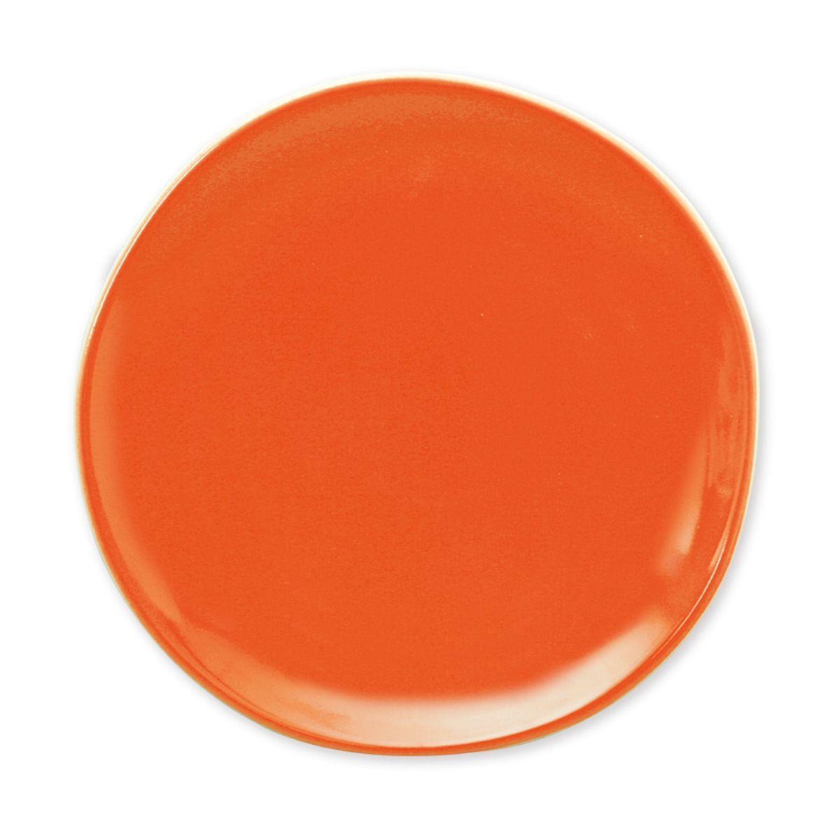 assiette dessert ronde fa ence terana orange bruno evrard cr ation. Black Bedroom Furniture Sets. Home Design Ideas
