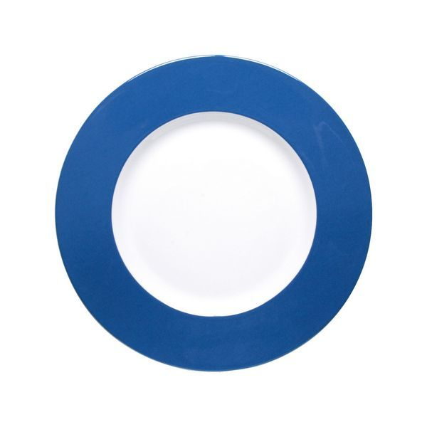 Assiette de pr sentation ronde freshness bleu bruno for Assiette de decoration