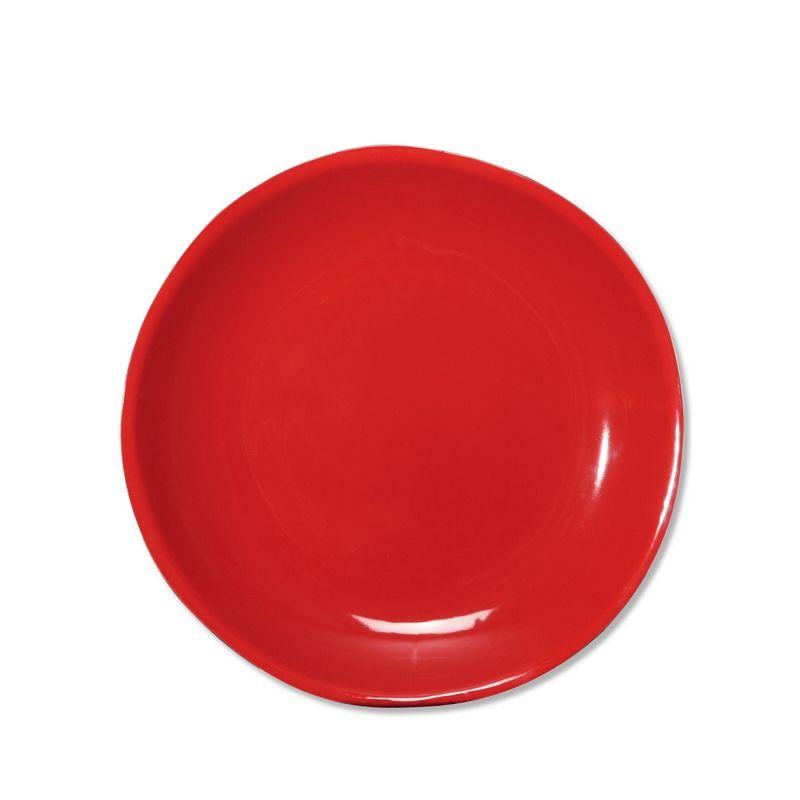 assiette plate en fa ence terana rouge 27 cm bruno. Black Bedroom Furniture Sets. Home Design Ideas
