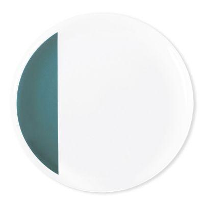 assiette plate porcelaine louison bleu canard art de la table. Black Bedroom Furniture Sets. Home Design Ideas