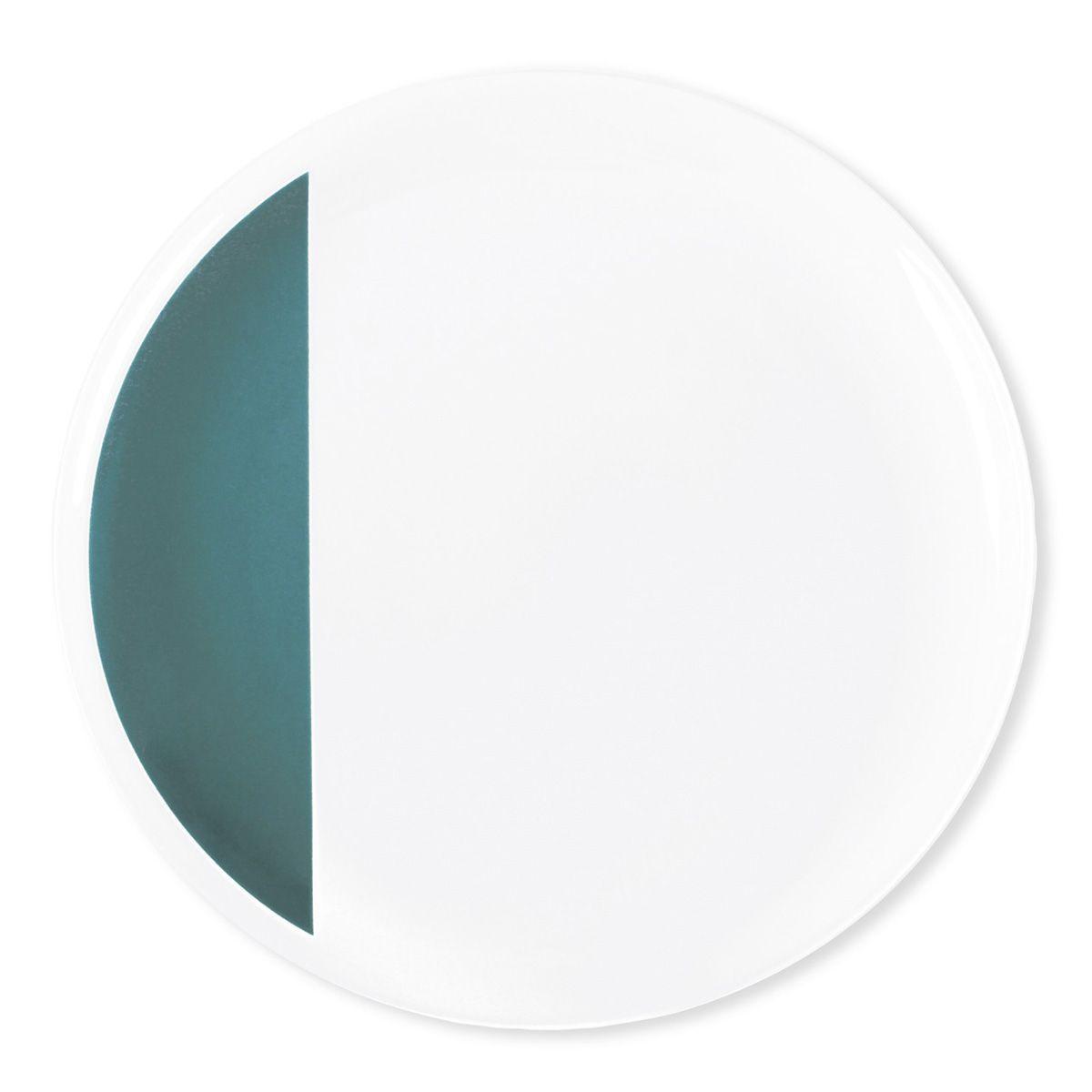 assiette plate porcelaine louison bleu canard bruno evrard cr ation. Black Bedroom Furniture Sets. Home Design Ideas
