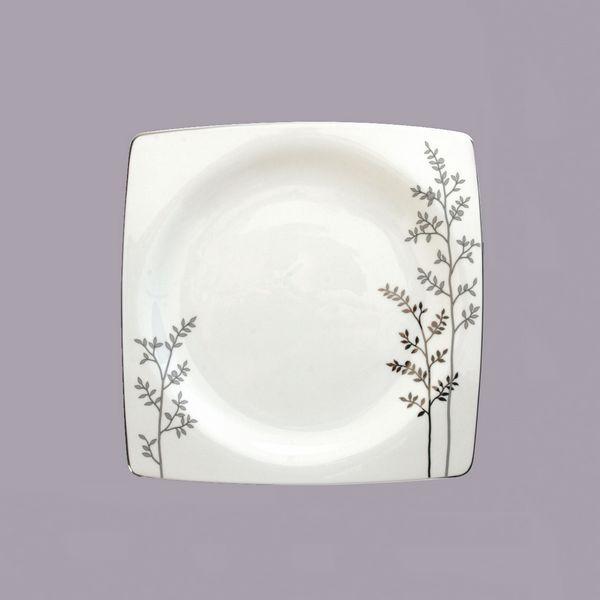assiette plate porcelaine silver bruno evrard cr ation. Black Bedroom Furniture Sets. Home Design Ideas