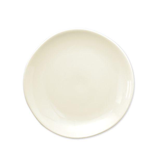 assiettes plates ivoire