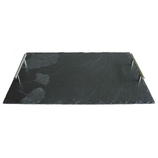 plateau ardoise ginkgo art de la table. Black Bedroom Furniture Sets. Home Design Ideas