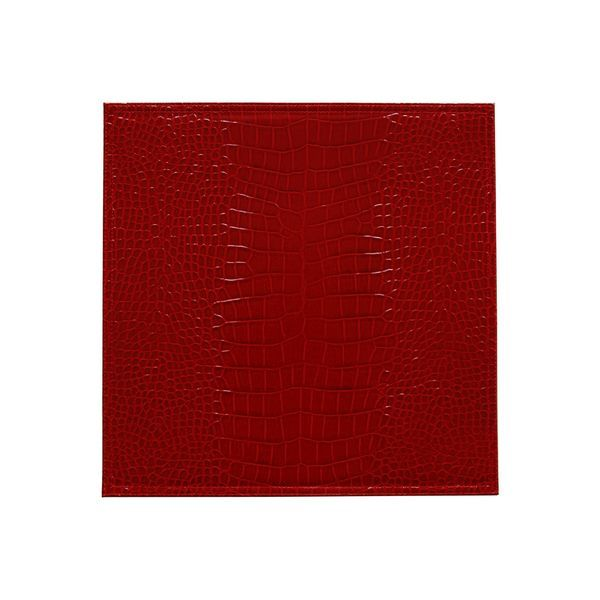 Set de table plastique shiny rouge set de 6 bruno evrard for Set de table plastifie