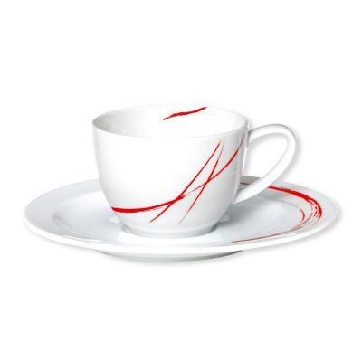 tasse caf porcelaine gousto rouge bruno evrard cr ation. Black Bedroom Furniture Sets. Home Design Ideas