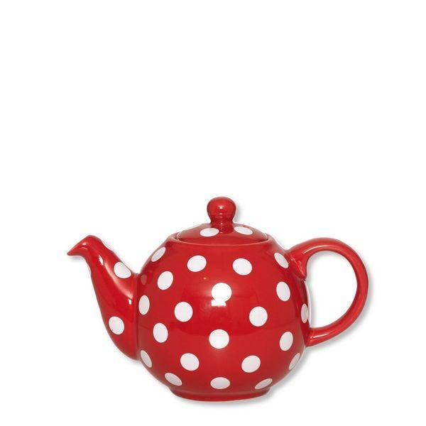 th i re porcelaine globe rouge pois blancs pm bruno evrard cr ation. Black Bedroom Furniture Sets. Home Design Ideas